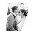 Foto op poster staand trouwfoto
