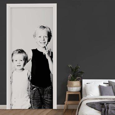 Jouw eigen foto als deurposter